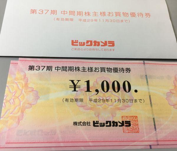 3048ビックカメラ株主優待券