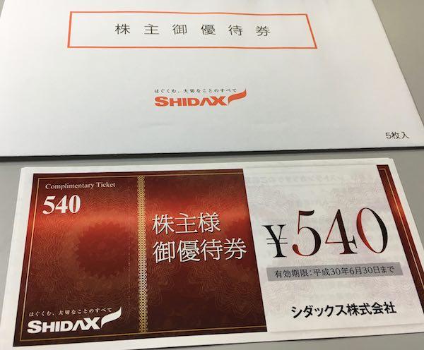4837シダックス株主優待券