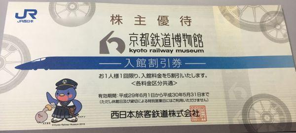 9021JR西日本京都鉄道博物館割引券