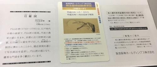 [9042]阪急阪神HD 2017年9月権利確定分 株主優待カード 期限約1年