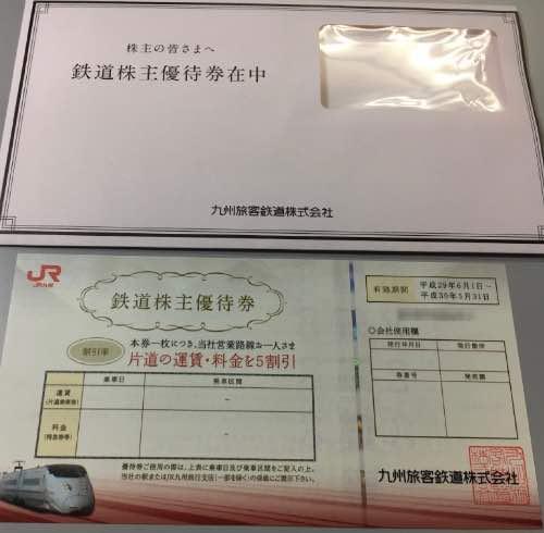 9142JR九州株主優待券