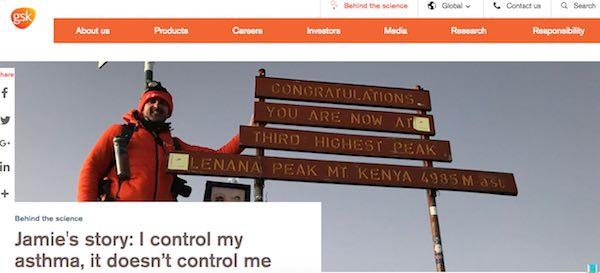 GSKグラクソスミスクライントップページ画像