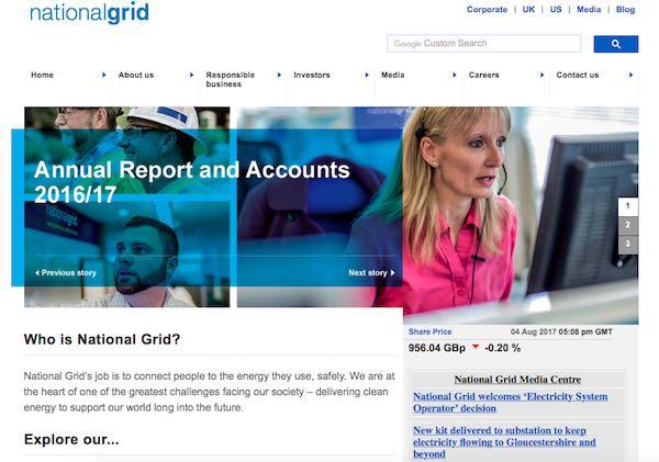 NGGナショナルグリッドトップページ画像