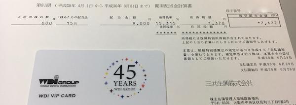 8018三共生興2018年3月期期末配当金