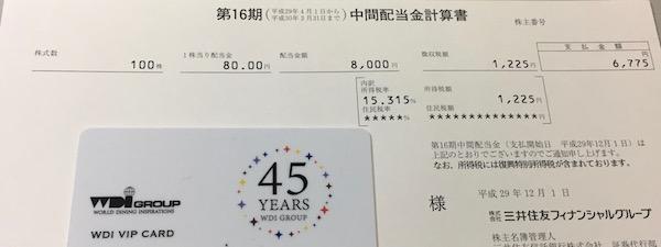 8316三井住友FG受取配当金