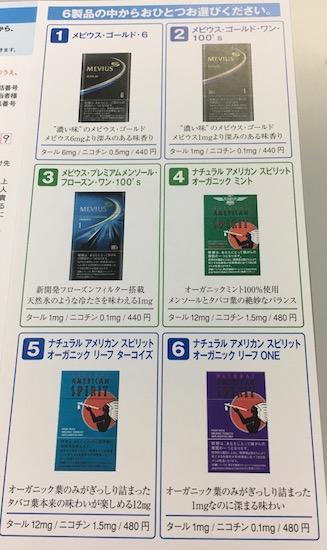 2914日本たばこ産業たばこ優待