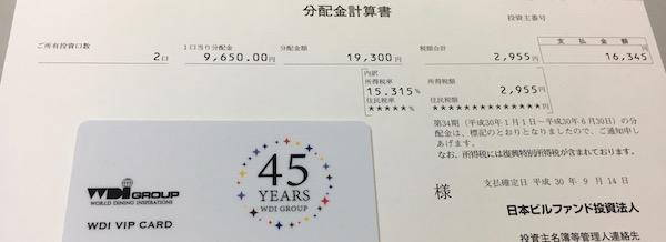 8951日本ビルファンド2018年6月期分配金