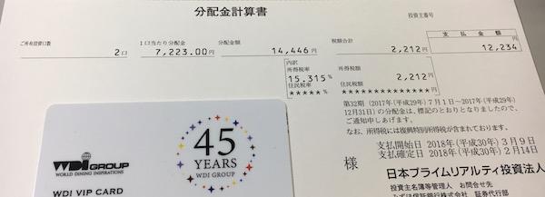 8955日本プライムリアルティ受取分配金