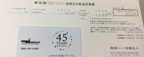 8977阪急阪神リート投資法人2018年5月期分配金
