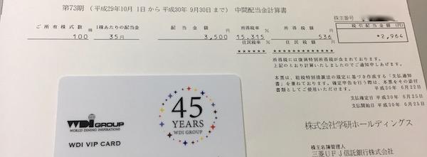 9470学研HD2018年9月期中間配当金