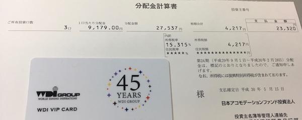 3226日本アコモデーションファンド投資法人2018年2月期分配金
