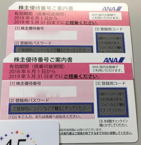 9202ANAHD株主優待券