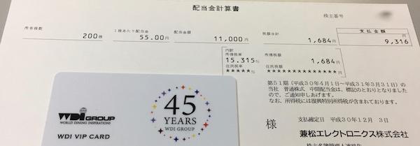 8096兼松エレクトロニクス2019年3月期中間配当金