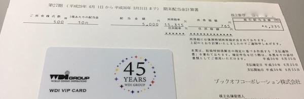 3313ブックオフコーポレーション2018年3月期期末配当金