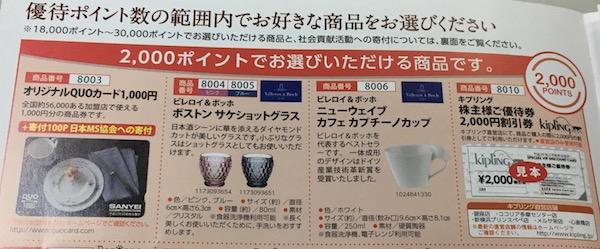 8119三栄コーポレーション2,000円相当の株主優待カタログ