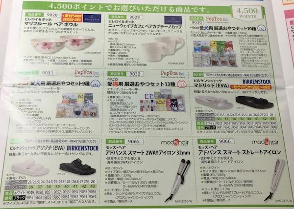 8119三栄コーポレーション4,500円相当の株主優待カタログ