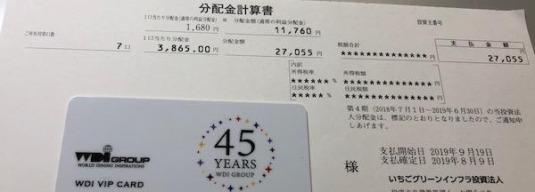 9282いちごグリーンインフラ2019年6月期分配金