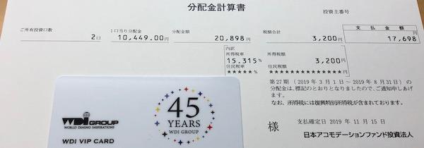 3226日本アコモデーションファンド受取分配金