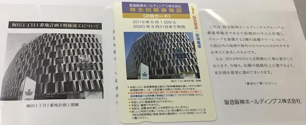 9042阪急阪神HD2019年3月権利確定分株主回数乗車証
