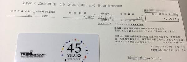 3190三洋貿易2019年9月期中間配当金