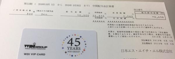 4327日本エスエイチエル2019年9月期中間配当金