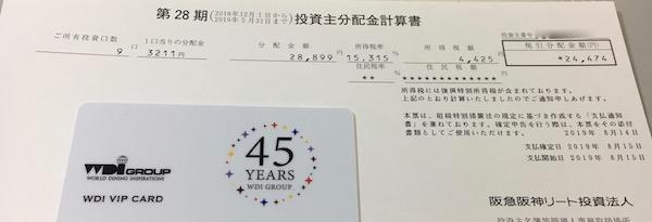 8977阪急阪神リート投資法人2019年5月期受取分配金