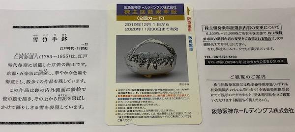 9042阪急阪神HD2019年9月権利確定分株主優待券