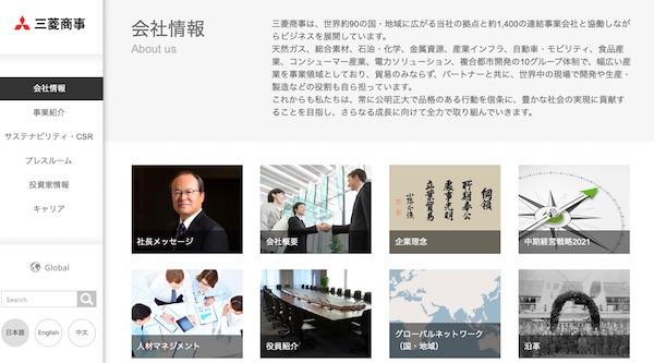 8058三菱商事トップページ画像